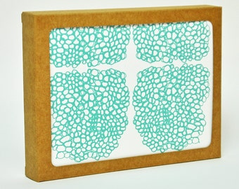 Hand Printed Thread Clusters- Boxed Set of 6 Cards
