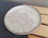Creamy White Lace Plate, Ceramic Plate, Jewelry Storage, Cookie Plate, Gift for Her, Lacey Ring Dish