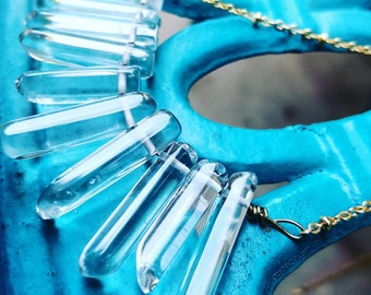 SALE,  Ice drops Pendant  Ready to ship