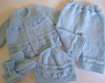 Newborn Outfit, Take Home Outfit,  Baby Shower Gift, Knitted Baby Suit, Clothing for Babies, READY TO SHIP