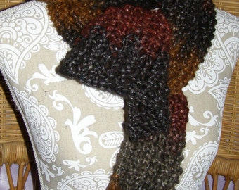 Scarf made with an open weave