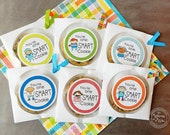 You're One Smart Cookie Tags / Kids Lunch /School Parties /Teacher Appreciation /Lunchbox Treats /Positive Reinforcement for kids