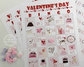14 Valentine Bingo Game For Home, Church or School Parties  Hearts
