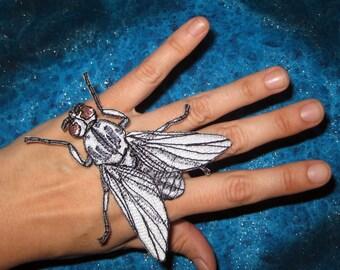 Black Fly Simulium vittatum Iron on Patch Applique