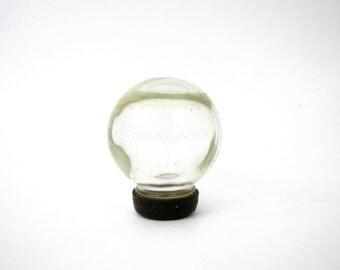 vintage Clear Glass Bottle Small Round Pharmaceutical Bottle antique Apothecary bottle Terrarium Flower Aquarium