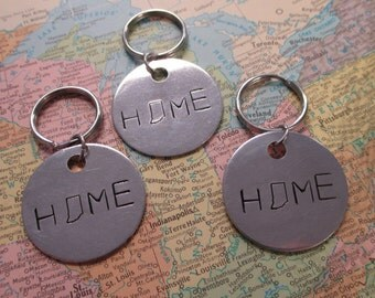The Theodore Key Chain - Indiana HOME Key Chain or Necklace