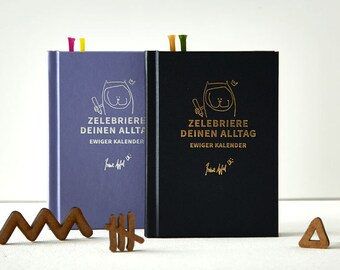 perpetual calendar. Luxury edition for you! With colorful illustrations for every week! Perfect for Christmas and as a present. almanac.