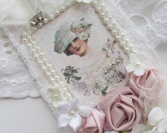Bridal  Gift Tag, Ivory Tag, Bridesmaid Gift,  Wedding Lace Tag