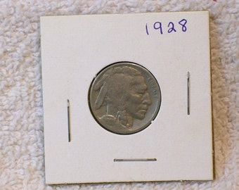 Buffalo Nickel / Indian Head Nickel / Date 1928