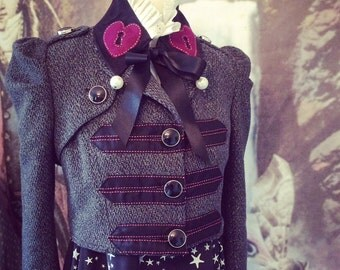 Band Jacket gothic lolita goth boho bolero shrug spencer empire waist  Jane austen size 36 chest