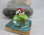 MyLand -  Mossy Hill - Collectible 3x3 cm or 1.2x1.2 in. puzzle in stoneware