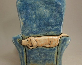 Couch Potato...Honey...3D Wall Tile in Stoneware