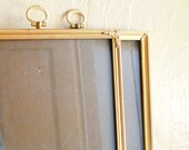 Pair of Vintage Bright Gold Metal Filigree Picture Frames 8x10