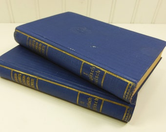 1951 Langenscheidt's English German Pocket Dictionary, 2 Volumes with American Usage, Berlin Germany