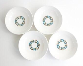 Mid Century Modern Temporama Bowls / Retro Bowls by Canonsburg Pottery / Mid Century Temporama Dinnerware