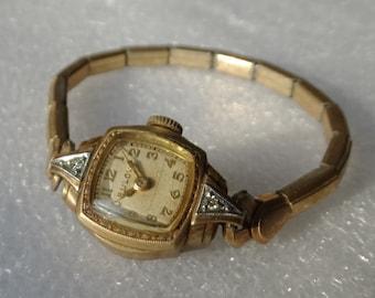 Vintage Bulova Womans Diamond Watch