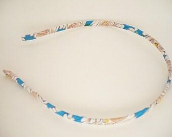 Fabric headband - Fabric Metal Headband - Women headband - Girl headband  - Aquamarine - Greenish - Indigo - Ultramarine - Sea Green