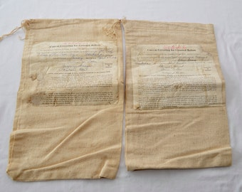 on sale Vintage 1976 Canvas BALLOT Bags lot of 2