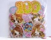 Kamio Japan Sticker Flakes - Happiness Girls 100 Pieces (43947)