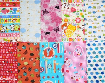 Scrap / Kawaii Fabric 10 pieces (873)
