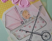 Handmade Baby Girl Baby Gift or Shower Gift Tag