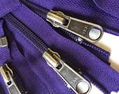 6 Deep Purple 5mm YKK Separating Zippers