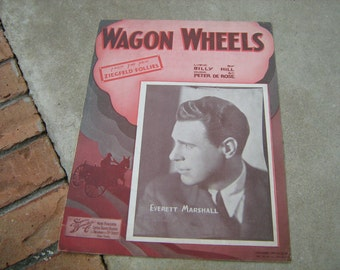 1934  vintage sheet music ( Wagon Wheel   ) Ziegfeld Follies