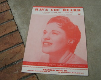 1952  vintage sheet music (  Have you heard  )