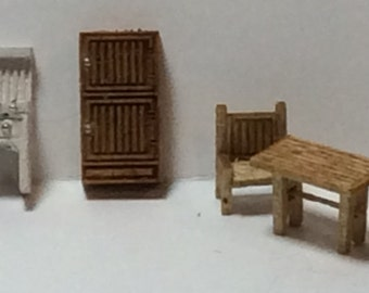 New - 144th Inch Scale Furniture Kits Country Style Kitchen