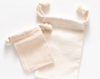 Set of 10 Large Muslin Bags
