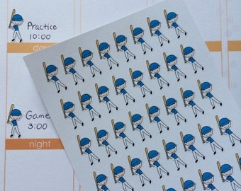 SALE 40 Baseball Players Planner Stickers