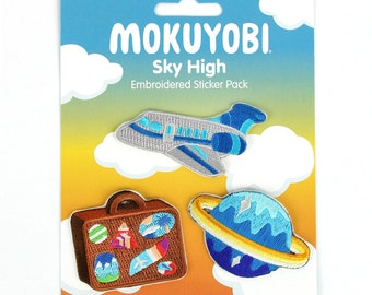 Sky High Embroidered Sticker Pack