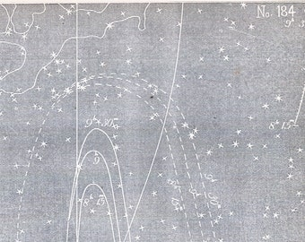 Antique Star Chart - 1856 Astronomy Print - Zodiacal Light - Vintage Print - No. 184