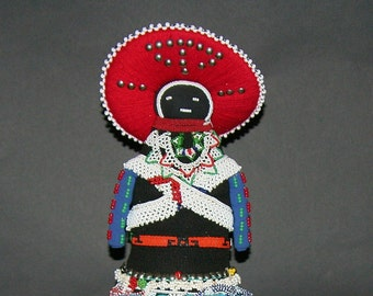 African Zulu Msinga Doll Collectible - Vintage
