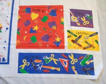 Cut and Sew Fabric Panel, Crayola Kids Organizer, Fabric Panel, Cut and Sew Kids Organizer