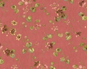 COUPON Code Sale - FAT QUARTER - Isabella, Medium Floral, Coral, Penny Rose, Riley Blake, 100% Cotton Quilt Fabric, Reproduction Quilting