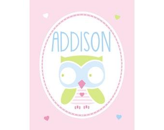 Girls Personalized Name Print Addison