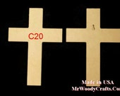 16''x 24'' Unfinished Wooden Crosses, Choose from 8 different Crosses and 3 thickness, Ready to Paint, 1/2 and 3/4 have key holes.  1-13A