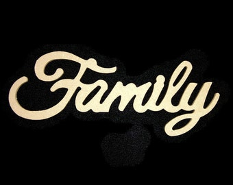 "24"" Unfinished Wooden Family Sign w/ keyhole"