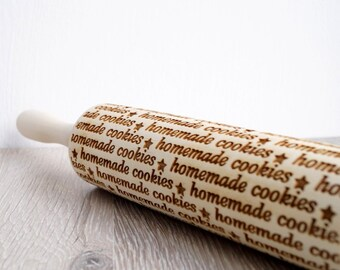 Embossing rolling pin, Homemade cookies, Cookie decorating rolling pin
