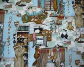 "Robert Kaufman Fabric ""Cats in the Sewing Room"" - 3 Yard Piece"