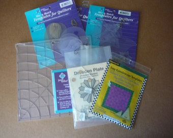 SALE - Quilting Templates & Marking Tool - Lot of 8 - June Tailor, OmiGrid, etc