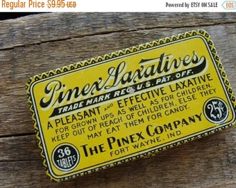 20PercentOff One Antique Medical Laxative 25 cent Tin
