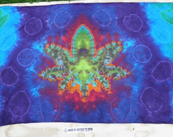 "Cannabis Leaf Tie Dye Tapestry #24 (Dharma Trading Co. Size 44"" x 72"") (A Series of 420)"