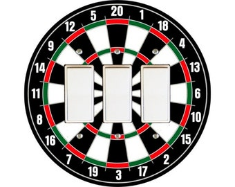 Darts Dartboard Triple Decora Rocker Switch Plate Cover