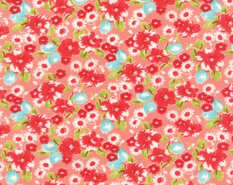 Pink Little Ruby Flannel Fabric - Moda - Bonnie and Camille - 55130 13F