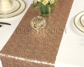 Rose Gold Glitz Sequin Table Runner Wedding Table Runner