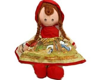 1977 Vintage Doll | Little Red Riding Hood | Knickerbocker Toy | Original Tag | Soft-Stuffed Doll | Fairy Tale Doll | Story Dress Doll |