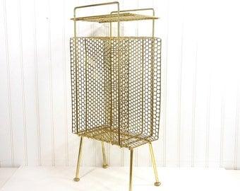 Vintage Telephone Table Atomic Era Mid-Century Modern Metal Stand Shelf Retro Home Decor Storage Organizer Rack PeachyChicBoutique