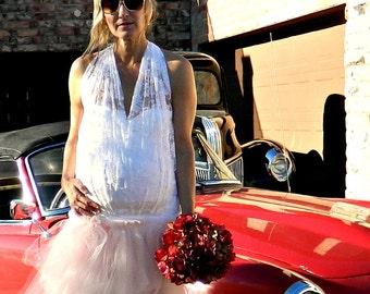 Tulle Skirt for Women-Tutu Skirt for Women-Tulle Skirt-Bridal Clothes-Bride Maternity-Hand Layered Jolie Tulle Wrap Skirt-Chic Modern Bridal